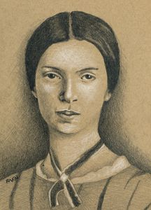 Emily Dickinson Portrait Drawing