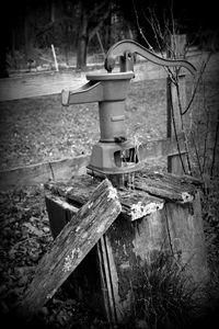 Old Water Pump B&W
