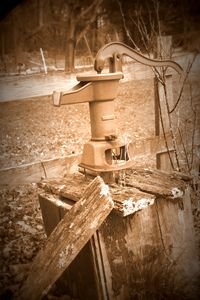 Old Water Pump Sepia