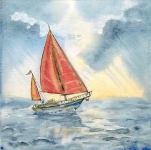 Lonely sail