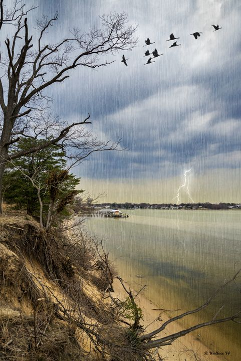 Storm Brewing Over Rock Creek - Brian Wallace