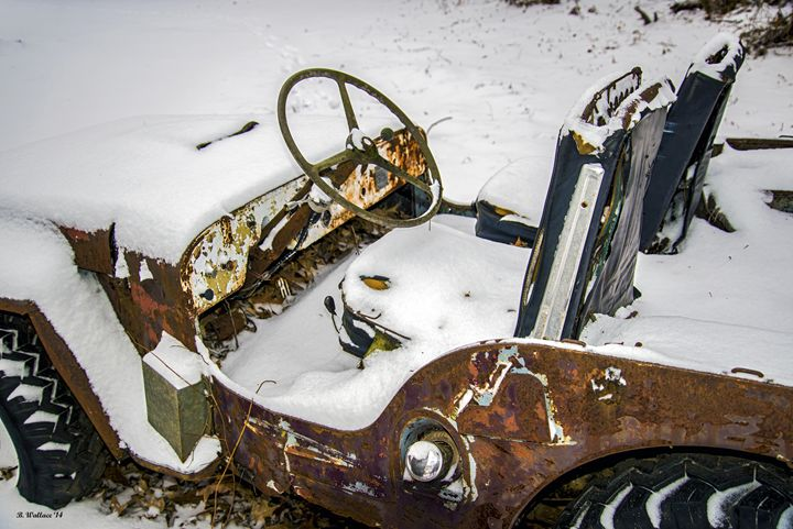 Old Jeep - New Snow - Brian Wallace