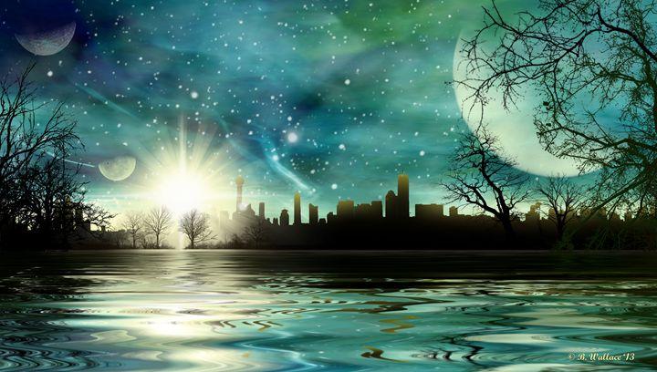 Alien World Waterscape - Brian Wallace