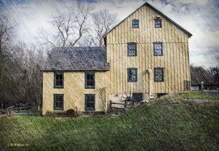 Abbott's Mill - Textured - Brian Wallace