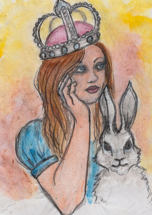 Queen Alice for a day - Jen Hallbrown Art