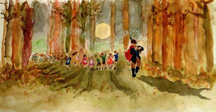 The Pied Piper - Jen Hallbrown Art