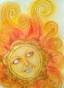 Sun - Jen Hallbrown Art