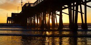 Newport Beach California Pier at Sun
