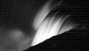 Niagara Falls New York in Black and
