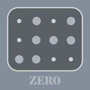 Colored Braille Number Zero