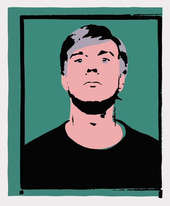 Andy Warhol Self-Portrait 1964 Green - Peter Potamus Gallery