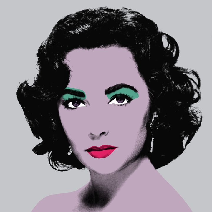 Silver Liz - Warhol Inspired - Peter Potamus Gallery
