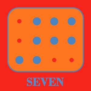 Colored Braille Number Seven