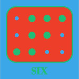 Colored Braille Number Six