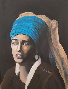 Tristesse au foulard
