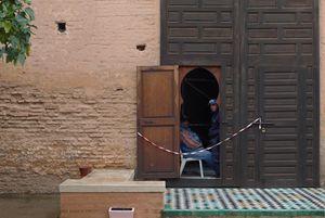 Guarding the palace in Essaouira