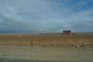 Saharan farm before the storm