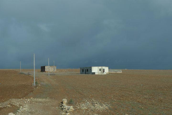 Storm brewing over the Sarhara 1 - John Brooks Art & Photography