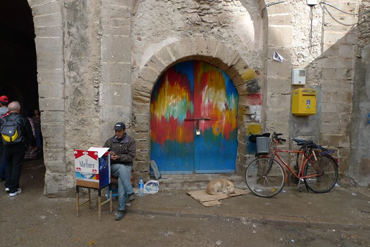 Cigarette seller in Essaouira - John Brooks Art & Photography