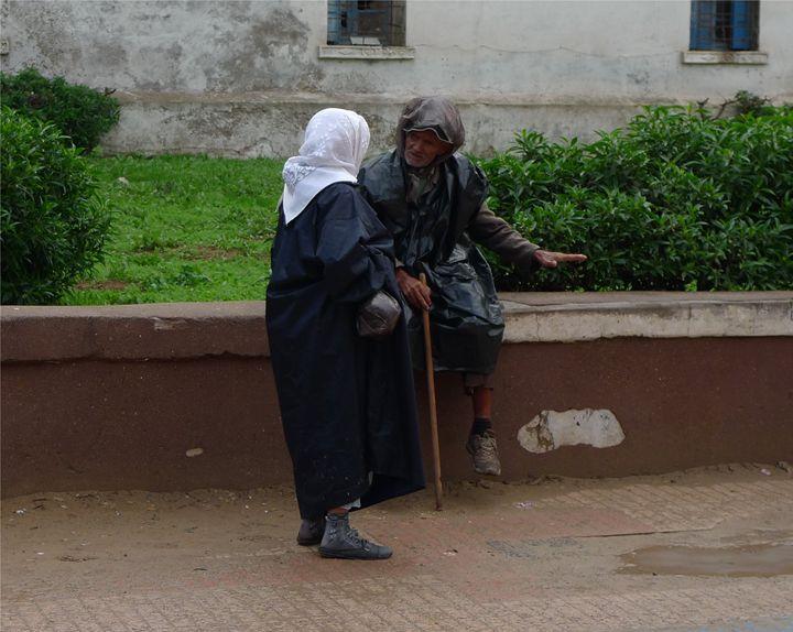 Conversation in Essaouira - John Brooks Art & Photography