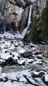 Winter at Yosemite Lower Fall