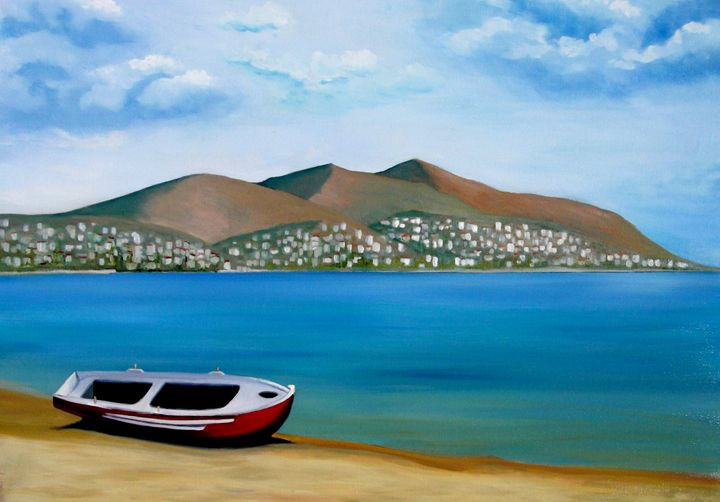 Lonely Boat - Kostas Art
