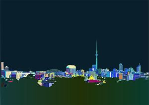 City of Auckland at Night
