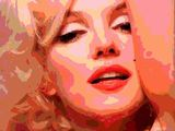 MONROE IN ORANGE 22x30in PRINTED ON