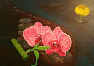 Orchids and Nuphar - George Tamser