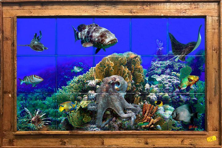 St Lucia Reef - Lobster Trap Art