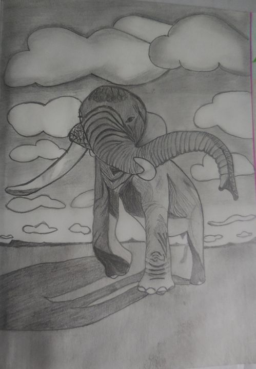 The Mighty Elephant - Sindhu's Paintings