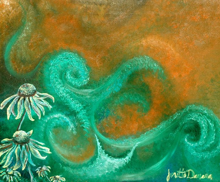 Echinacea Sea - Blue Dragon Medicine Art