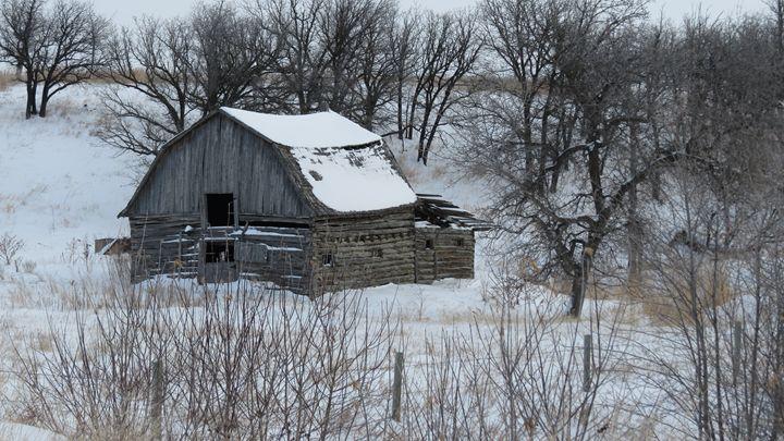 Log Barn - Muck-About Fine Art