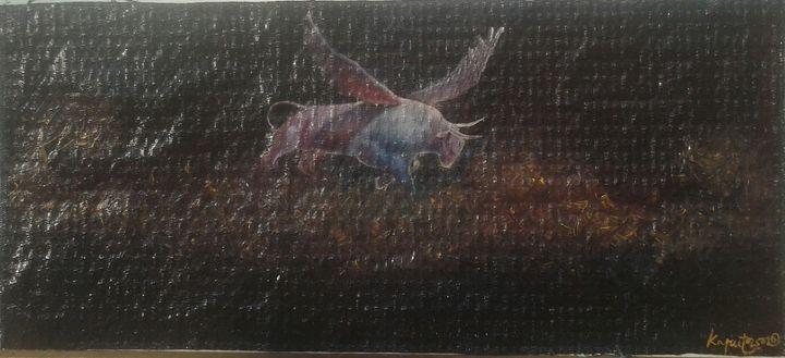 the winged bull - kaputo_artist