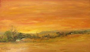 Farmstead At Sunset #3845