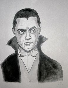 Pencil sketch of Dracula