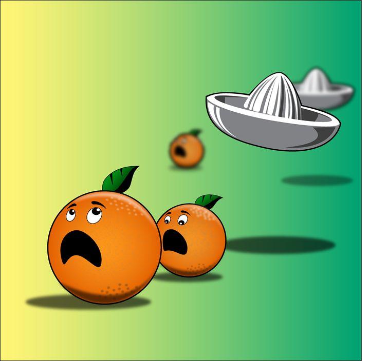 The Orange's escape - Alexandre Ibáñez