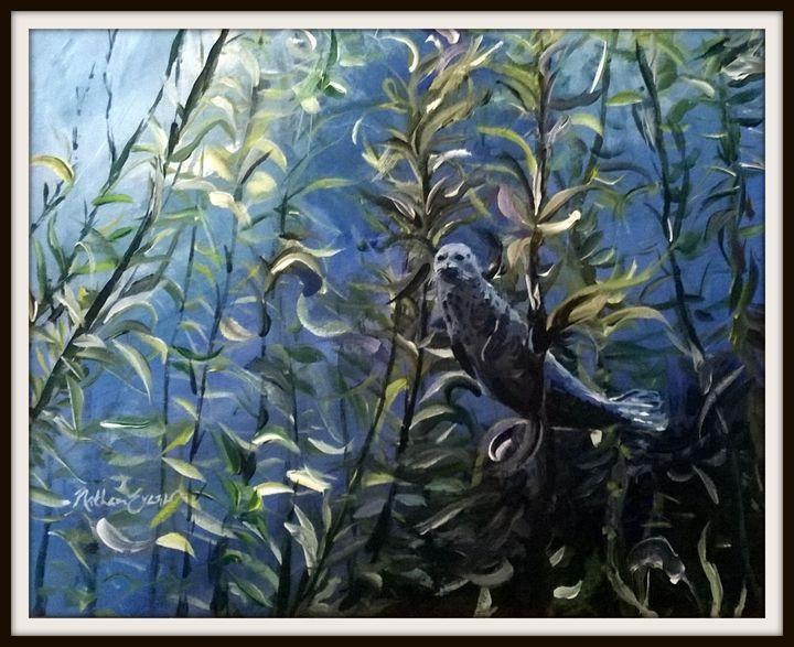 Underwater Sea Lion - Nathan Evans' Artwork