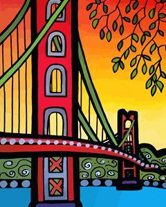 Golden Gate Bridge Vertical - Artwork by Lynne Neuman