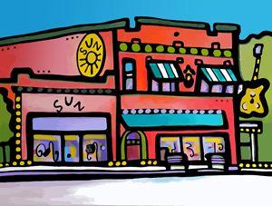 Sun Records Memphis Tennessee - Artwork by Lynne Neuman