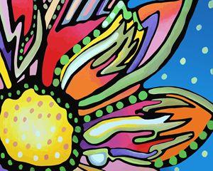 Pink Flower Closeup - Artwork by Lynne Neuman
