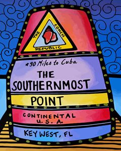 Southernmost Point Marker Key West - Artwork by Lynne Neuman