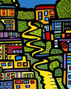 Lombard Street San Francisco - Artwork by Lynne Neuman