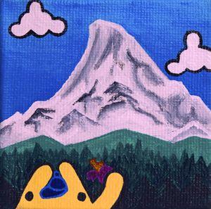 Triangle Monster Visits Mt. Hood