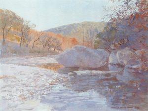 Autumn Stream and Rocks | Texas Art