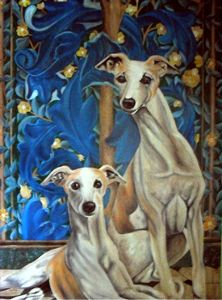 Whippets Resting