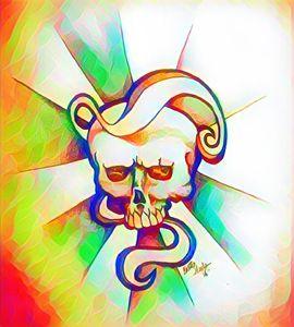 Colour Swirl Skull