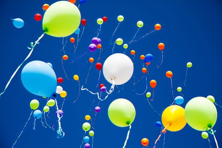 colorful balloons in the sky - Radomir