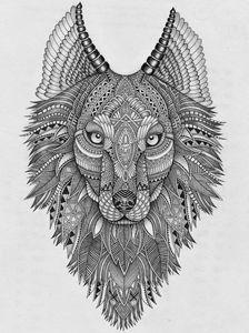 Zentangle Wolf