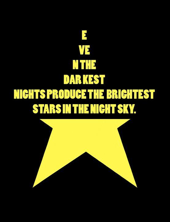 Darkest nights, Bright stars - Wall Decor